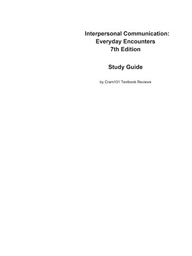 interpersonal communication study guide A field guide to communication the process of interpersonal communication, third canadian and 'interpersonal communication' are.