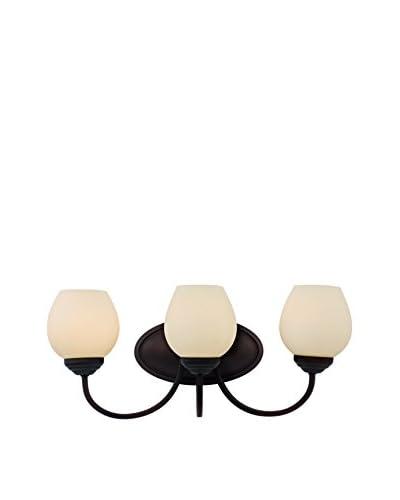 Bel Air Lighting Clarissa 3-Light Wall Sconce, Rubbed Oil Bronze