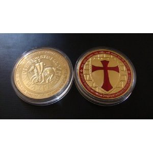 Knights Templar Cross Masonic Mason Gold GIFT Coin ... from Hibiscus Express