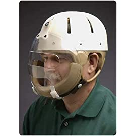 Hard Shell Helmet with Face Guard - Size: Medium