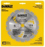 Dewalt Dw3182 Series 20 8-1/4-Inch 24 Tooth Atb Framing Saw Blade With 5/8-Inch Arbor front-624984