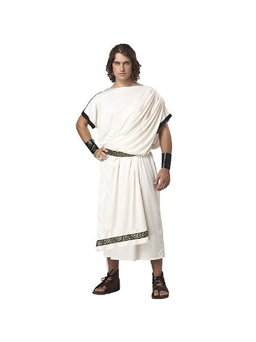 Deluxe Classic Toga Costume - One Size - Chest Size 40-44