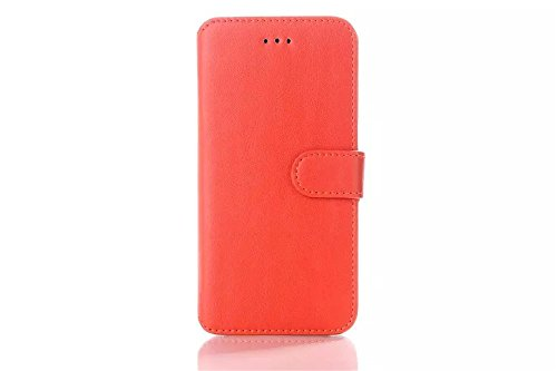 Iphone 6 Phone Case Borch Fashion Multi-Function Wallet For Iphone 6 Case Luxury Genuine Leather Carrying Case Cover With Credit Id Card Slots/ Money Pockets Flip Leather Case For Iphone 6 4.7 Inch Borch Screen Protector (Orange)