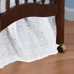 Standard Crib Eyelet Dust Ruffles - color white