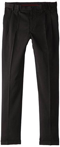 Izod Men'S Big & Tall Pleated Traveler Dress Pant, Deep Black, 38X36