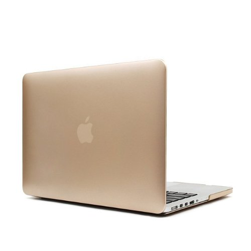 """Dhz® Golden Retina 13-Inch Rubberized Hard Case Cover For Apple Macbook Pro 13.3"""" With Retina Display A1502 / A1425 (Newest Version, No Cd-Rom Drive)"""