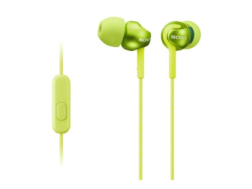 все цены на  SONY sealed inner ear receiver MDR-EX110AP/G Lime green  онлайн