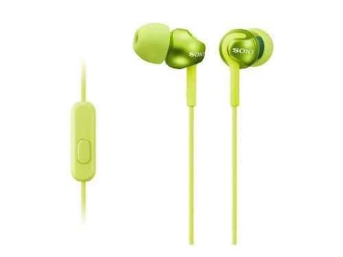 SONY sealed inner ear receiver MDR-EX110AP/G Lime green