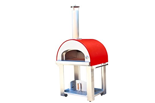 Large Wood Fired Pizza Oven Color: Red