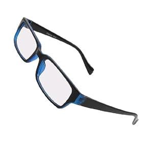 unisex black blue plastic frame arms clear