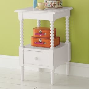 Cheap Kids Nightstands: Kids White Spindle Jenny Lind Nightstand (B003Z2Z4TW)