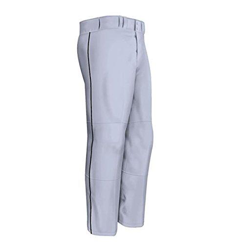 Easton Men's Quantum Plus Baseball Pants with Piping (Grey/Black, Large) (Men Plus Pants compare prices)