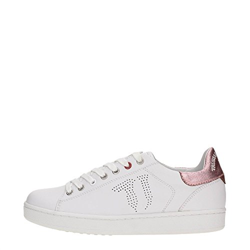 Trussardi Jeans 79S018XX Sneakers Donna Pelle BIanco BIanco 37