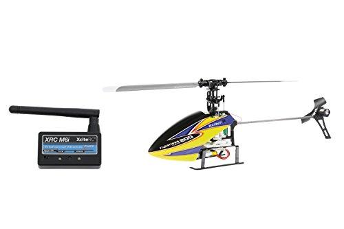 13000120 Ferngesteuerter RC Hubschrauber Flybarless 200 Trainer RTF 2.4 GHz 4 mit M6i 6 Kanal Sendermodul FHSS gelb blau