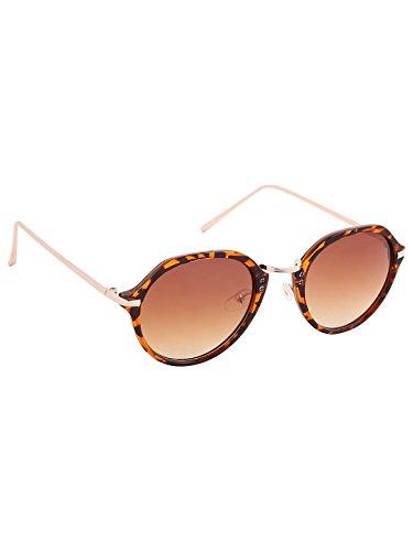 Olvin Unisex Brown Oval Sunglasses (OL333-04)
