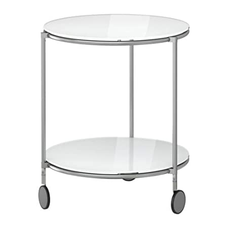 IKEA STRIND - Side table white nickel-plated - 50 cm
