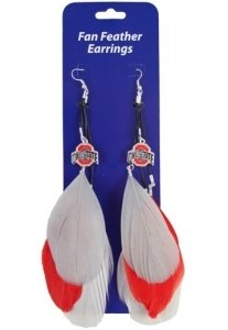 Ohio State Buckeyes Team Color Feather Earrings