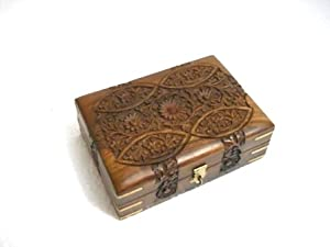 PINDIA Jwellery Box Wooden gift Designer Showpiece Wedding Indian Art ...