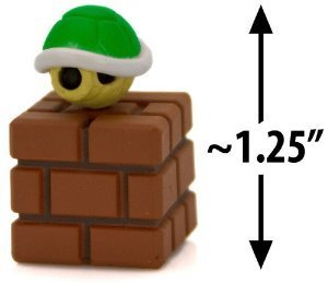 Nintendo Super Mario Bros Series 3 1.6 inch Green koopa Shell on Brick Block - Choco Egg - Japanese Import Mini Figure - 1
