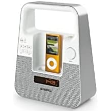 Memorex Mi2601P TagAlong Portable Boombox For IPod Or IPhone - White