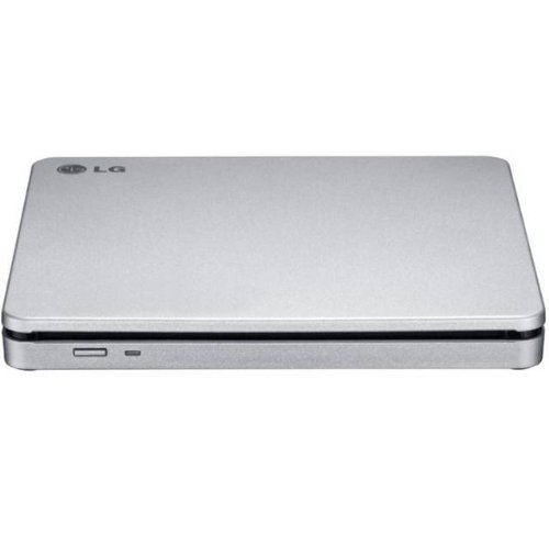 LG Electronics 8X USB 2.0 Super Multi Ultra Slim Slot Portable DVD+/-RW External Drive with M-DISC Support, Retail (Silver ) GP70NS50