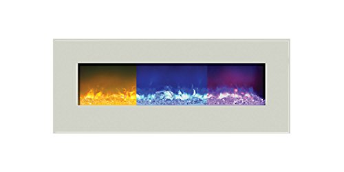 Amantii Fire & Ice Series Wall Mount/Built-In Electric Fireplace, 48-Inch