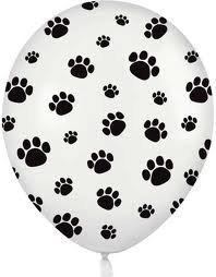 12-White-Balloons-with-Black-Paw-Prints-Woof