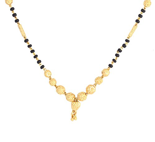 Black 23.5K Gold Plated Mangalsutra For Women