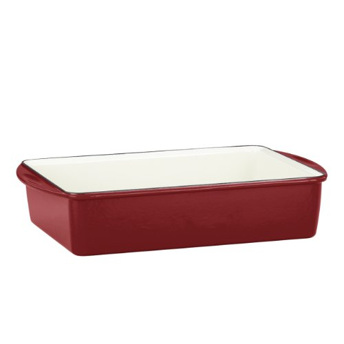 Mario Batali by Dansk Enameled Cast Iron Deep Lasagna/Roaster, Chianti