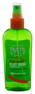 Garnier Fructis Style Flat Iron Perfector Straightening Mist, 6 oz. (Packaging May Vary)