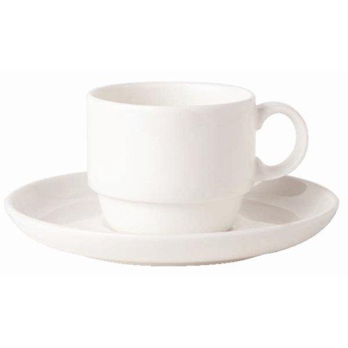 Bone Ascot Stacking Coffee Cup - Capacity: 200ml (7oz). Box quantity: 6.
