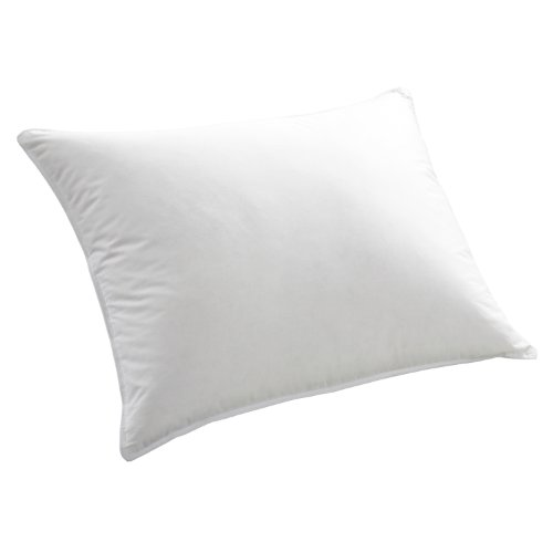 Cuddledown Down Feather Pillow, Standard, Soft White front-786246