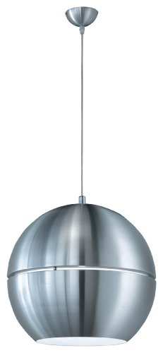 Trio 300204005 Pendant Light in Aluminium Diameter 40 cm Inside White