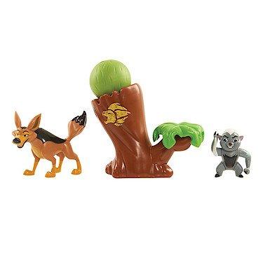 Disney – La Garde du Roi Lion – Bunga & Coyote – Pack 2 Figurines + Accessoire