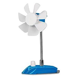 ARCTIC Breeze Blau - USB Tischventilator mit flexiblem Hals und einstellbarer Drehzahl - 800 - 1.800 U/min