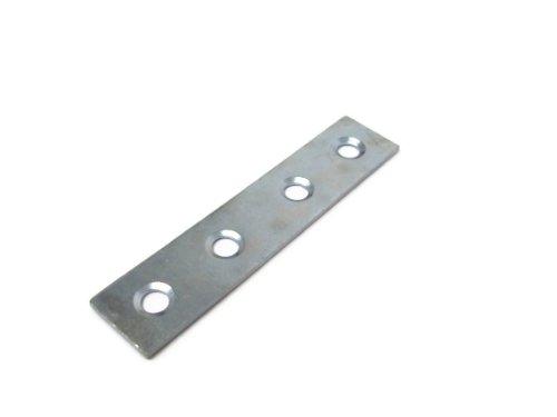 5 x Flat Zinc Plated Mending Brackets 75mm 3