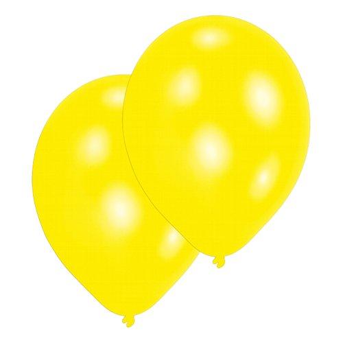 Amscan International Lot de 25 ballons en Latex Jaune métallisé 27,5 cm
