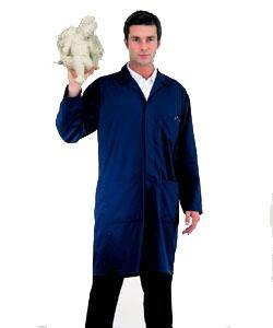 Mens Navy Work Shop Coat - Warehouse Workwear