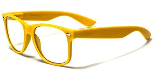 [Clear Lens RX Men's Women's Nerd Glasses - Flex Frame UV400] (Cheap Nerd Glasses)