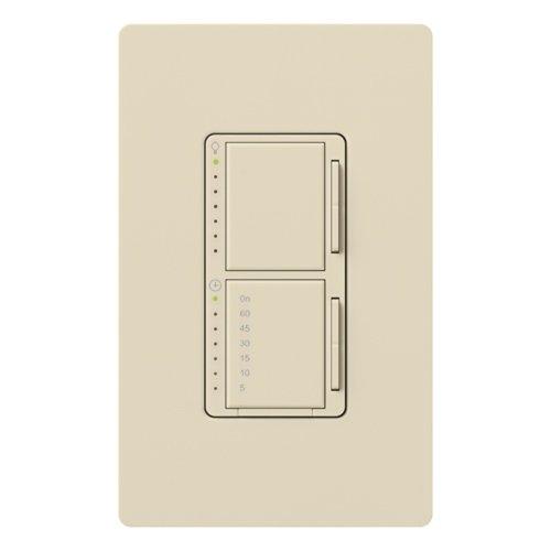 Lutron Ma-L3T251-La Maestro 300 Watt Single Pole Dimmer And Timer Switch, Light Almond