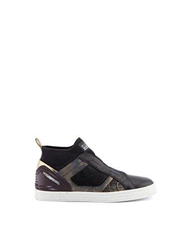 R182 sneakers alte con dettagli in pelo - 36