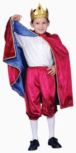 Pretend Deluxe Royal King (Maroon) Child Costume Dress-Up Set Size 8-10