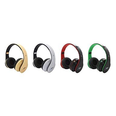 Zaki Stereo Slot At-Bt809 Headphone With Bluetooth Auricular Mic Fm Del Tf Para Pc Iphone Ipad , Green