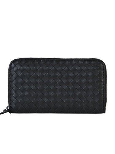 bottega-veneta-womens-114076v001n1000-black-leather-wallet