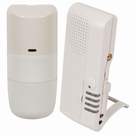 4-Channel Receiver With Wireless Outdoor Motion Detector With White Earbud Headphones