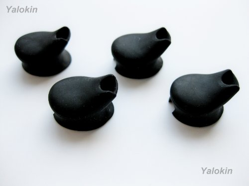 Four Black - Eartips / Earbuds For Plantronics Ml10 Universal Bluetooth Headset