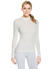 2 Pack Polo Neck Pointelle Thermal Tops
