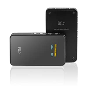 FiiO E7 USB DAC and Portable Headphone Amplifier (Black)