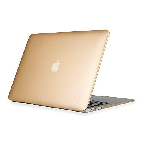 Fintie Coque MacBook Air 13 - Haute Qualité Plastique Transparent Dur étui Housse pour Apple MacBook Air 13.3 Pouces (A1466 / A1369) , Or