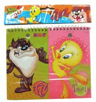 WB Looney Tunes stationery notepads : Tweety & Taz 2 pcs Notepad